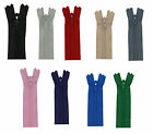 """18"""" YKK Closed End Zips - Choice of Colours and Pack Size"""