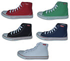 Ladies Ankle High Canvas Pumps, Navy,Red,Green,Black,Size 8 (EUR42) Free Postage