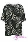 BNWT LADIES PLUS SIZE ABSTRACT ANIMAL PRINT JUMPER / TUNIC - SIZE 16 - 32