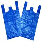 "Medium Strong Carrier Bags Blue 14mu 11x17x21"" Select Size & Qty"