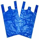 "Strong Carrier Bags LARGE Blue 18mu 11x17x21"" Select Size & Qty"