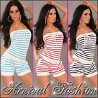 NEW SHORT BOOB JUMPSUIT size 6 8 10 LADIES STRAPLESS OVERALL TOPS FOR WOMEN S M