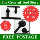"BOSCH  CHUCK KEYS FOR 3/8"" OR 1/2"" KEYED CHUCKS FOR MAINS OR BATTERY DRILLS"