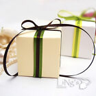 "2""x2""x2"" White / Ivory Wedding Favour Gift Candy Boxes Decoration 50,100,150,200"