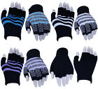 Ladies Girls Thermal Designer Fingerless Gloves For Work, Typing & Touch Screen
