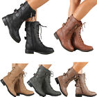 Kyпить Womens Combat Military Boots Lace Up Buckle New Women Fashion Boot Shoes Size на еВаy.соm