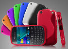 GRIP S-LINE WAVE SILICONE GEL CASE FOR BLACKBERRY CURVE 9320 FREE SCREEN GUARD
