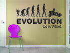 Go Kart Evolution Wall Art - Karting Themed Vinyl Design  - Various Sizes/Colour
