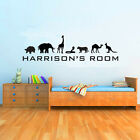 Animal Themed Childrens Named Wall Art - Various Sizes and Colours