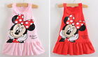 New Kids Girls Toddlers Cute Disney For Minnie Mouse Princess Tank Dress Sz 1-7Y