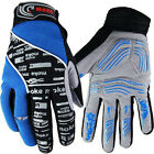 New  Winter NEW Cycling Bike Bicycle Full Finger Gloves Blue Color Size M - XL
