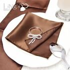 "12"" Satin Pocket Square Dinner Napkins Handkerchief  Wedding Table Decorations"