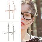 Large Vintage Style Cross Earrings Dangle Goth Punk Rock Crosses Religious