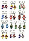 Boy and Girl with Country Flag Keychain Haiti Ecuador Trinidad/Tobago