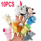 10pcs Lovely Charms Animal Finger Puppet Soft Toy Fit Learn Play story With Baby
