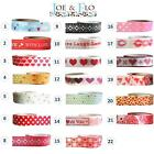 Washi Tape, Masking Tape, Gift and Craft Tape - HEARTS & VALENTINE