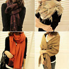 Girl Lady Women's Men Winter Warmer Fashion Large Soft Cashmere Shawl Wrap Scarf