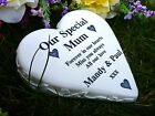 Memorial Gift - Personalised Solid Stone Effect Heart - Made in Great Britain