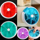 7-Day Round Pill Box Case Container Dispenser Medicine Vitamin Supplement 3Color
