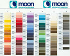 MOON SEWING THREAD BY COATS - SPUN POLYESTER 1000 YARDS - FANTASTIC COLOURS