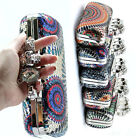 Skull Knuckle Duster Ring Clutch sequins evening handle Handbag purse case bag