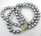 Fashion Freshwater gray Pearl Necklace 18""