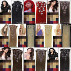 15''-22'' 7pcs Clip in Real Remy Human Straight Hair Extensions Multiple Listing
