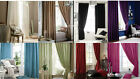 FAUX SILK 8 COLOURS 12 SIZES PENCIL CURTAINS + TIE BACKS OR CUSHION COVER BY CL