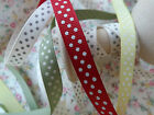 3m Bertie's Bows Polka Dot Grosgrain Ribbon 9mm NEW!! MAX P+P 99p on all Ribbon!