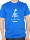 KEEP CALM AND CARRY ON DIVING - Sports / Dive / Exercise Themed Mens T-Shirt