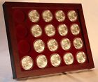 Coin Display Showcase for American Silver Eagle Dollars, 41mm Capsule Holders