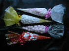 CELLOPHANE CONE BAGS CELLO PARTY BAGS, GIFTS SWEETS VARIOUS COLOURS/QUANTITIES