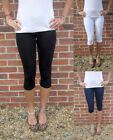 KNEE LENGTH Leggings COMBED COTTON Elastane SIZES 8 - 26
