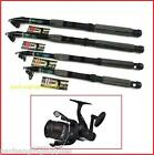 Shakespeare Reel & Carbon Travel fishing Rod Eitherl 7ff 8ft ,9ft ,10ft 12ft
