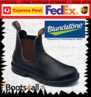 New BLUNDSTONE 500's Work Boots Classic Brown Leather Slip On Non Steel Toe