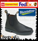 New Blundstone Mens 063 Work Dress Boots Shoes Soft Toe Black Leather AU Size