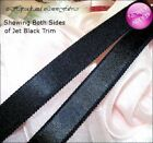 "UK 5m 2m 1m 13mm BLACK SATIN 1/2"" ELASTIC Stretch Bra Strap dress costume"