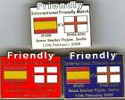 2009 Friendly - Spain v England ~ Match Day Badge