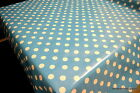 Blue Duck Egg PVC Tablecloth ALL Sizes Wipe Clean Vinyl Oilcloth Top Quality