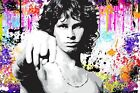 JIM MORRISON THE DOORS - MUSIC ICON PRINT ON CANVAS Colourful Framed Wall Art