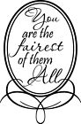 You Are The Faires Vinyl Wall Home Decor Decal Quote Cute Kid Room Inspirational