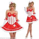 Ladies Sexy Corset Naughty Nurse Hen Do Fancy Dress Costume Outfit 8-26 PlusSize