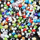 Mix Colors Murano Lampwork Glass Mushroom Dots Loose Spacer Charm Beads Findings