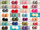 100 Glass Pearl Beads 8mm Round Beads All Colours