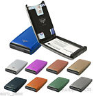 TRU VIRTU Razor Aluminium Slim Wallet Credit Card Holder Case RFID SAFE Gadget