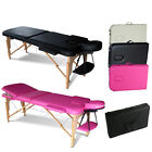 Portable Folding Massage Table Therapy Beauty Salon Tattoo Bed Couch Lightweight <br/> *FREE CARRY BAG AND COVER*HEIGHT ADJUSTABLE*PU LEATHER*