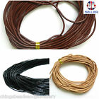 Genuine Leather Cord 3mm String Thong Jewellery Making