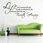 TAKE OUR BREATH AWAY quote wall sticker living room vinyl wall decals