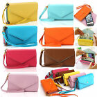 Candy Color Envelope Clutch Wallet Case Purse for Galaxy Cell Phone Bag