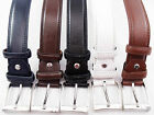 MENS HIGH QUALITY BONDED LEATHER BELT DESIGNED by GLM IN 5 COLOURS